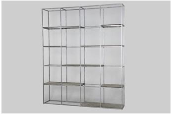 "Antique White Large Multi Shelf 86"" Bookcase"