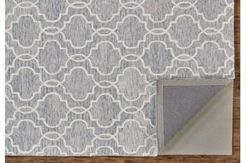 5'x8' Rug-Quatrefoil Grey/Ivory