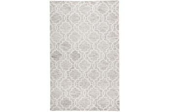 60X96 Rug-Quatrefoil Light Grey