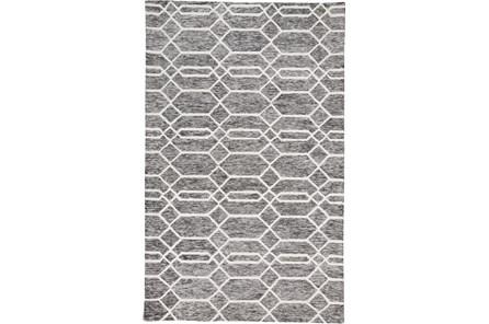 60X96 Rug-Geometric Overlap Charcoal/Ivory
