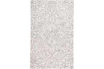 96X120 Rug-Symmetrical Detail Ivory/Charcoal