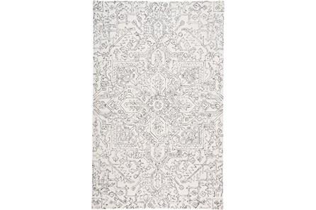 96X120 Rug-Symmetrical Detail Ivory/Charcoal