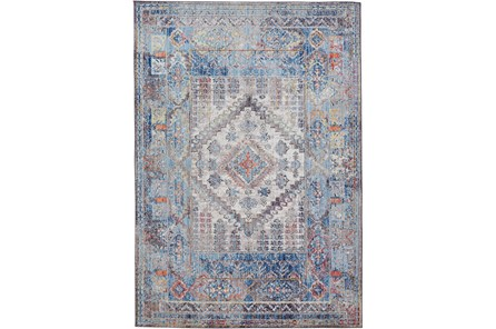 79X114 Rug-Tamarack Multi Colored Charcoal Highlights