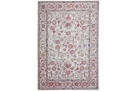 63X90 Rug-Tamarack Highlights Pink/Ivory/Charcoal