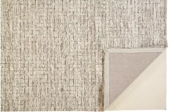 5'x8' Rug-Small Wool Grid Ivory