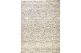 60X96 Rug-Small Wool Grid Ivory