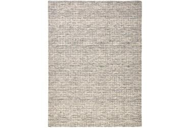 8'x10' Rug-Small Wool Grid Ivory