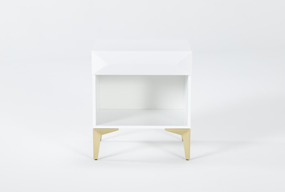 Aria White Accent Table