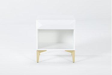 Aria White Filing Cabinet With 1 Drawer