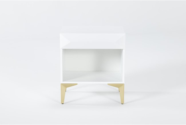 Aria White Accent Table - 360
