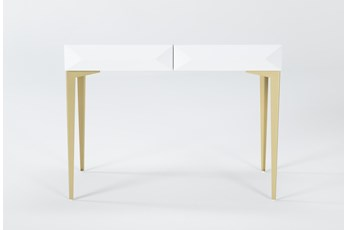 "Aria White 40"" Desk"