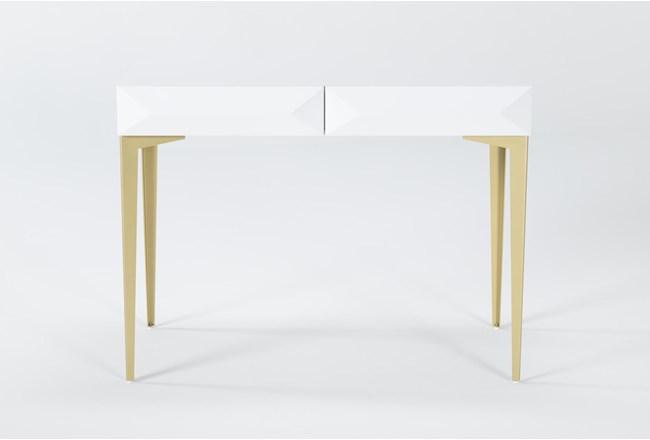 "Aria White 40"" Desk - 360"