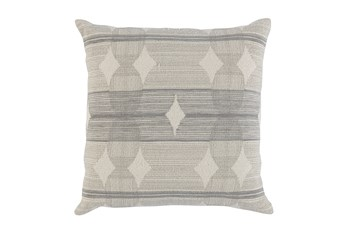 Accent Pillow-Grey Circles 22X22