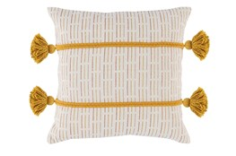 Accent Pillow-Tumeric Gold Top Stitching 20X20