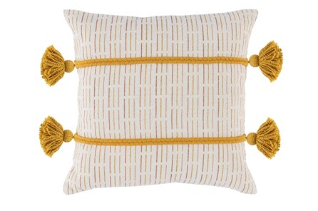 Accent Pillow-Tumeric Gold Top Stitching 20X20 - Main