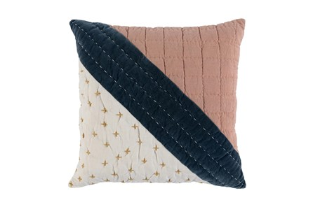 Accent Pillow -Clay Multi Modern Patchwork 22X22 - Main