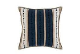 Accent Pillow-Azul Blue Jute Stripes 20X20