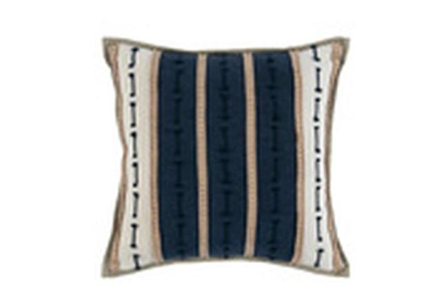 Accent Pillow-Azul Blue Jute Stripes 20X20  - 360