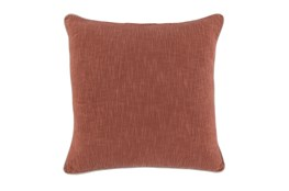 22X22 Clay Textured Cotton Solid Throw Pillow