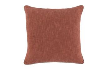 Accent Pillow-Clay Cotton Slub W/Linen Trim 22X22