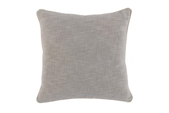 22X22 Grey Textured Cotton Solid Throw Pillow