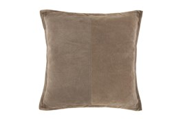 Accent Pillow-Tan Suede 20X20