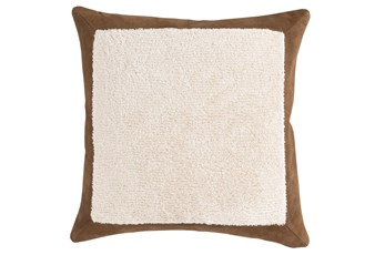 Accent Pillow-Chestnut Leather Border 20X20