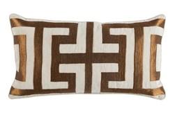 Accent Pillow-Metallic Greek Key Copper 14X26
