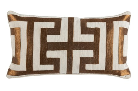Accent Pillow-Metallic Greek Key Copper 14X26 - Main