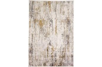 93X132 Rug-Faux Bois Ivory/Grey