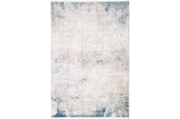 37X120 Rug-Pattern Overlay Ivory/Blue