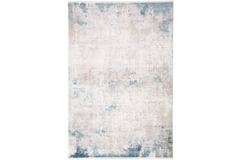 26X38 Rug-Pattern Overlay Ivory/Blue