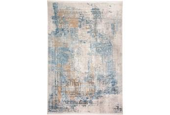 "9'7""x13'1"" Rug-Pattern Overlay Blue/Grey"