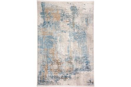 117X158 Rug-Pattern Overlay Blue/Grey