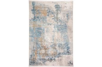 93X132 Rug-Pattern Overlay Blue/Grey