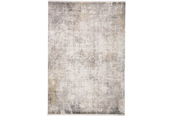 "3'1""x10' Rug-Cameron Light Grey/Ivory"