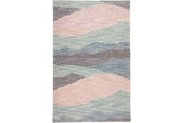5'x8' Rug-Multi Wool Striations Blush