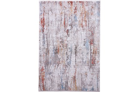 37X60 Rug-Faux Bois Ivory/Red