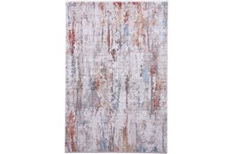 """7'8""""x11' Rug-Faux Bois Ivory/Red"""