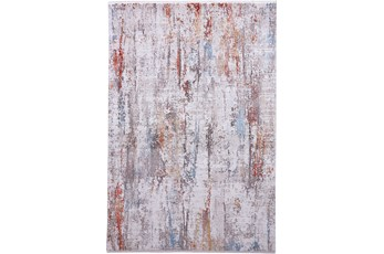 93X132 Rug-Faux Bois Ivory/Red