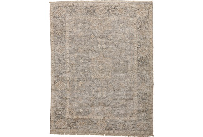 90X114 Rug-Faded Traditional Grey - 360