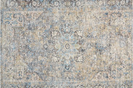 42X66 Rug-Multi Faded Traditional Beige