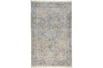 "5'x7'5"" Rug-Multi Faded Traditional Beige"