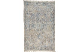 120X168 Rug-Multi Faded Traditional Beige