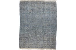 90X114 Rug-Multi Faded Traditional Blue
