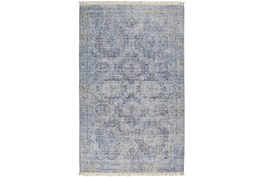"""3'5""""x5'5"""" Rug-Faded Traditional Blue"""