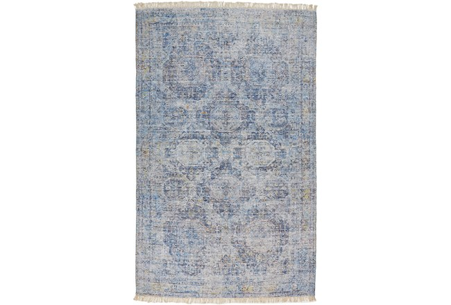 90X114 Rug-Faded Traditional Blue - 360