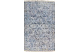 108X144 Rug-Faded Traditional Blue
