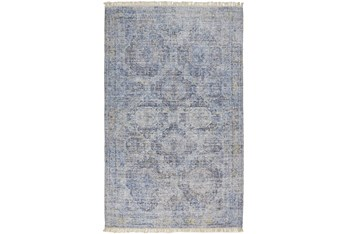 10'x14' Rug-Faded Traditional Blue