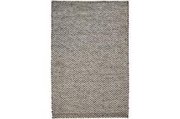 "3'5""x5'5"" Rug-Textured Wool Lineal Grey"